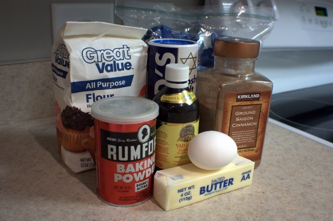 Make sure you get your mise en place together before you start baking. It will make it a lot easier once you begin.