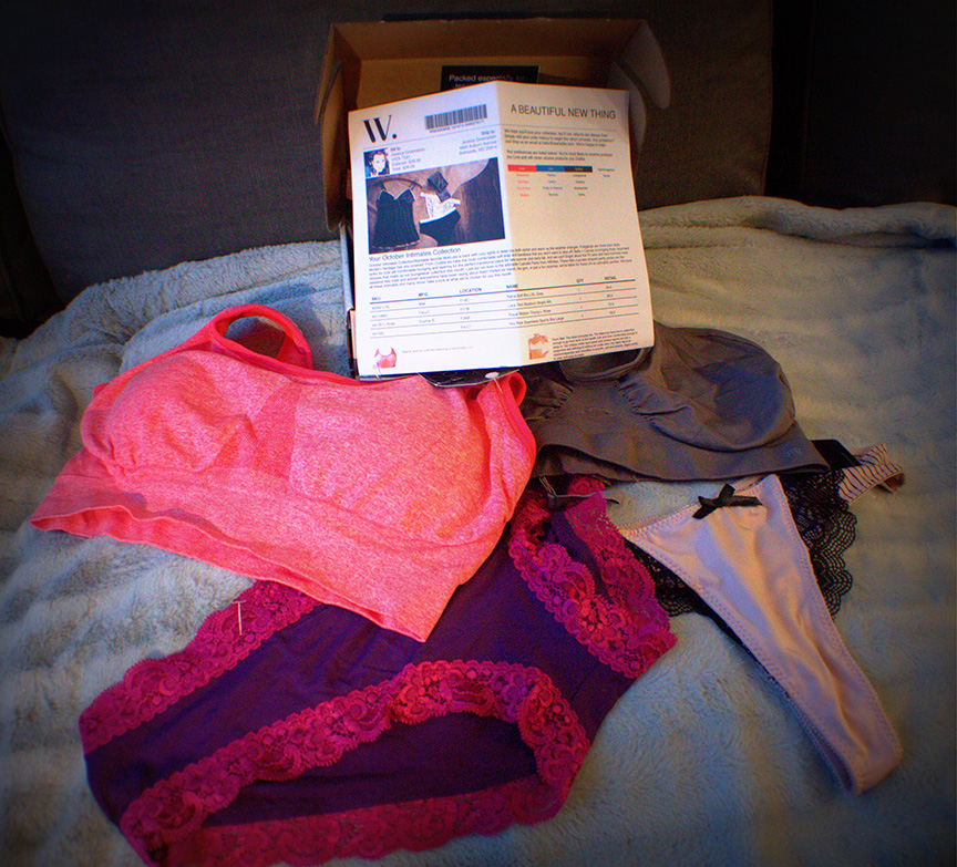 Wantable Intimates box includes four to five items for $36.00; free shipping