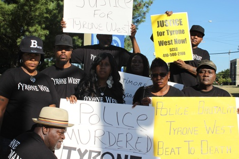 The Anniversary of Tyrone West's Death Protest. Photo credit: http://www.themsuspokesman.com