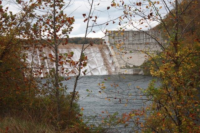 Foliage below Loch Raven's Dam