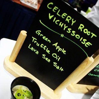 Food Wine & Co.'s second dish, the celery root vichyssoise, was also amazing.
