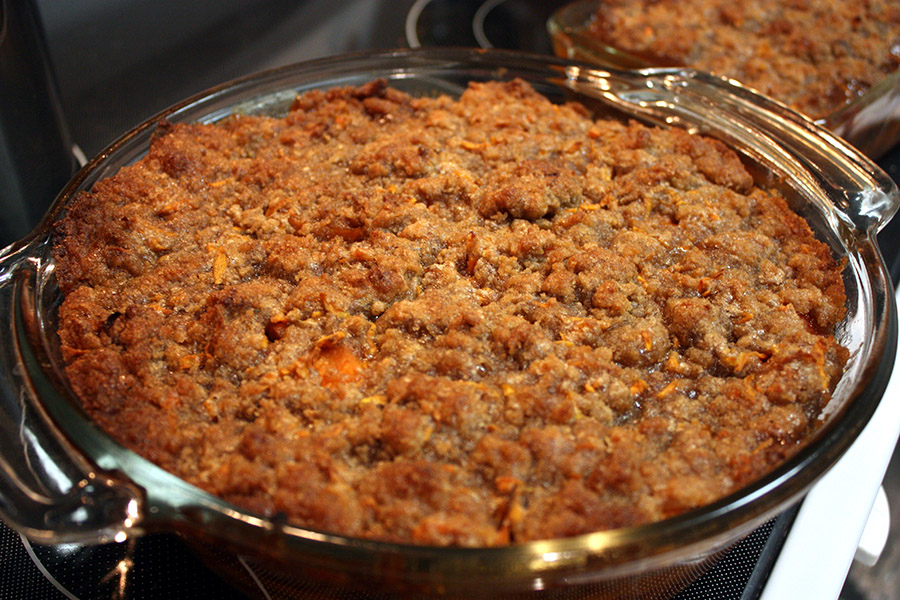 Sweet potato streusel is always a favorite at my house for Thanksgiving.