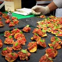 Smith & Wollensky brought some of their best with options: steak tartare and beef carpaccio.