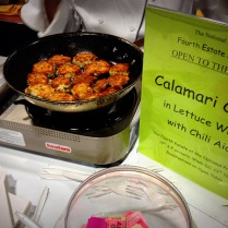 As a member of the press, of course I had to stop and try The National Press Club's calamari cakes and boy were they tasty.