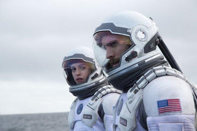 Anne Hathaway and Wes Bentley in Interstellar.