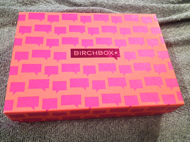 Birchbox is always delivered in the coolest boxes. This neon pink and orange conversation bubble box is no different.