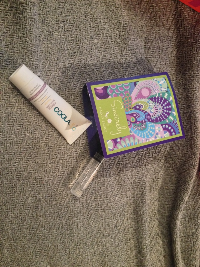 COOLA Face SPF 30 Unscented Matte Tint and Harvey Prince Sincerely perfume sample