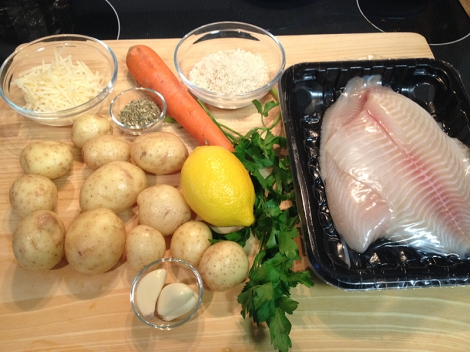 Mise en place in place and ready to cook.