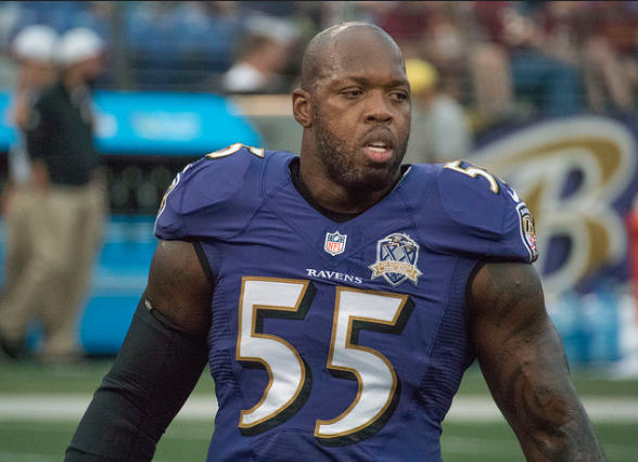 Terrell Suggs, linebacker for the Baltimore Ravens.