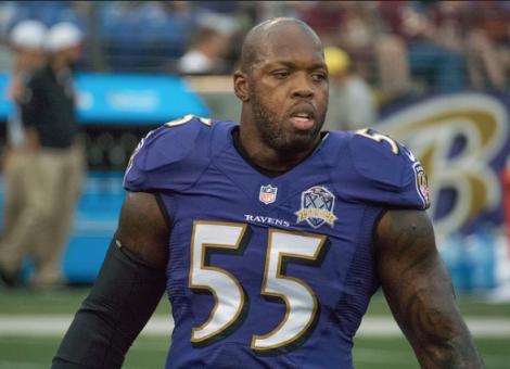 Terrell Suggs, linebacker for the Baltimore Ravens.