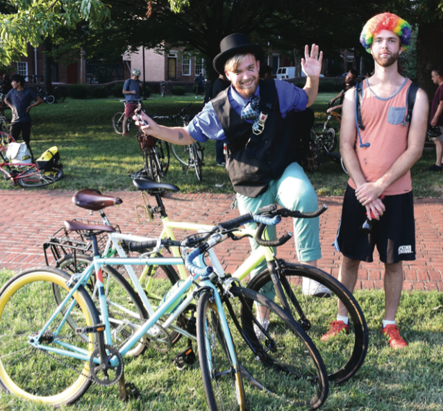 Every month Bike Party has a theme — August was circus!