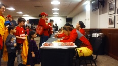 The Maryland players signed autographs for fans in the Xfinity Center's Heritage Hall after the game.